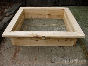 A square foot garden box is perfect for creating a high-yield vegetable garden in a small space.