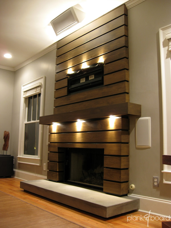 Board Formed Concrete Fireplace